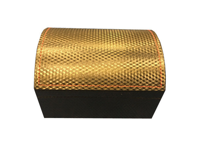 Plastic PU Leather Plastic Watch Box Custom Hot Stamping Logo Printed With Pillow