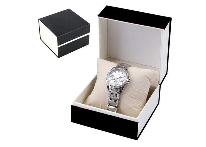 Fashional Luxury Paper Watch Box With Pillow Offset Printing Environmentally Friendly